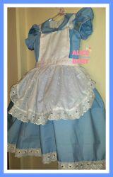 Vestido Alice no País da Maravilhas 100% algodão