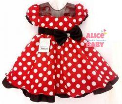 Vestido Festa Minnie Vermelho Nelu
