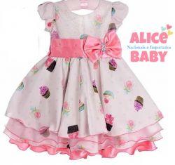 Vestido Festa Cupcake Bambina Fashion
