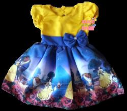 Vestido Bela e a Fera Mod.1 PrintVIII