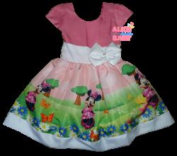 Vestido Minnie Rosa Mod.4 PrintVIII