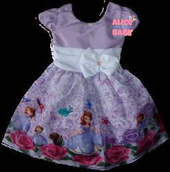 Vestido Princesa Sofia Mod.5 PrintVIII