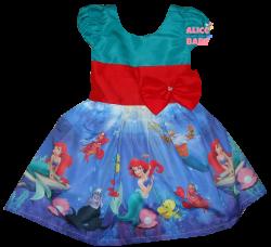 Vestido Pequena Sereia Ariel Mod.1 PrintVIII