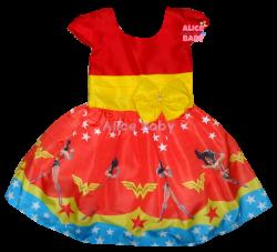 Vestido Mulher Maravilha Mod.2 PrintVIII
