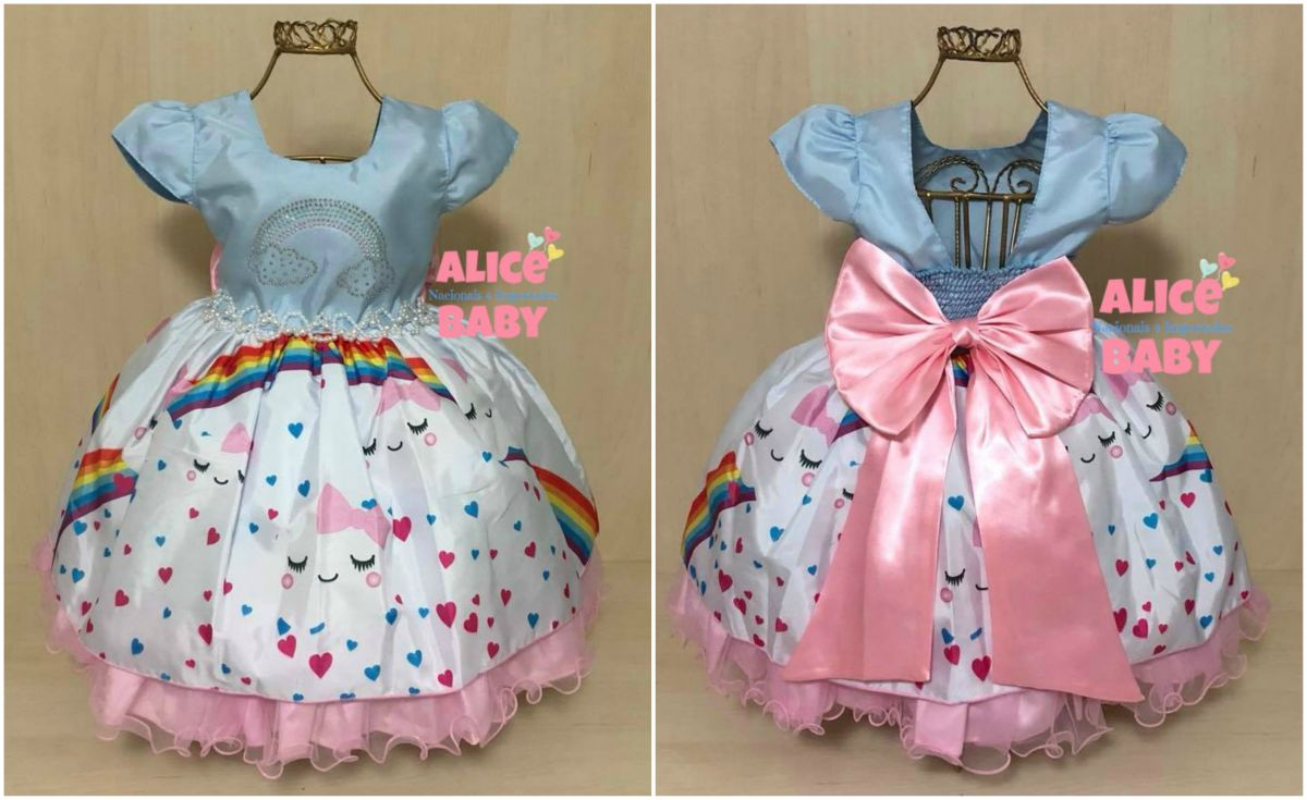 Vestido Festa Chuva De Amor Mod7 Mariê Alice Baby