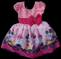Vestido Minnie Rosa Mod.5 PrintVIII