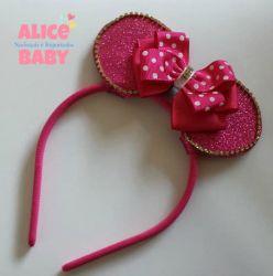 Tiara Minnie Pink Glitter