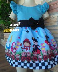 Vestido Alice no País das Maravilhas Mod.3 PrintVIII