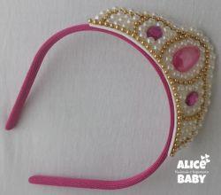 Tiara Coroa Pink