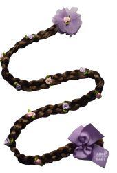 Trança Rapunzel Cabelo Castanho - Aplique