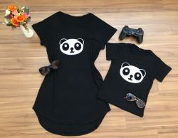 Mullet ou Camiseta Panda Infantil  - Monte o seu kit