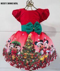 Vestido Natal Mickey e Minnie Mod.1 PrintVIII