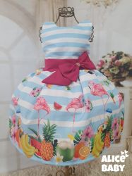 Vestido Tropical Flamingo Mod.2 PrintVI