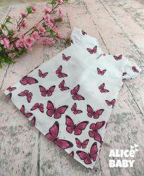 Vestido Trapézio Borboletas Pink PrintIX