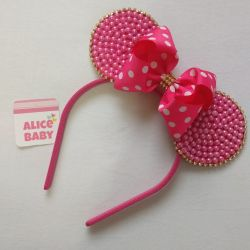 Tiara Minnie Pink Pérola