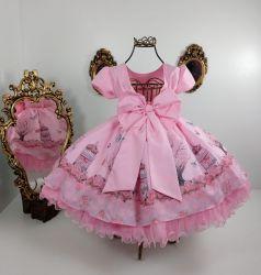 Vestido Festa Jardim das Borboletas Menina Bonita