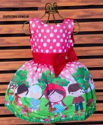 Vestido Chapeuzinho Vermelho Mod.2 PrintVIII