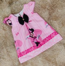 Vestido Trapézio Minnie Rosa Mod.7 PrintVIII
