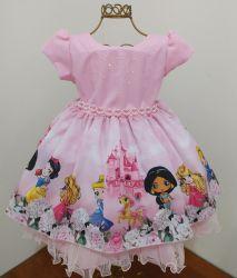 Vestido Festa Princesas Mod.2 Baila Nina