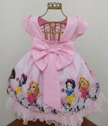 Vestido Festa Princesas Cute Mod.2 Baila Nina