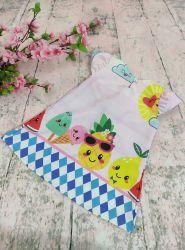 Vestido Trapézio Quitanda Frutinhas Mod.1 PrintIX