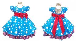 Vestido Festa Galinha Pintadinha Bambina Fashion