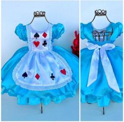 Vestido Festa Alice no País das Maravilhas Mod.7 Be Fest