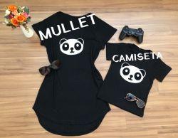 Mullet ou Camiseta Panda Infantil