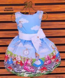 Vestido Alice no País das Maravilhas Mod.8 PrintVIII