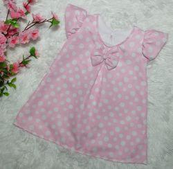 Vestido Trapézio Poá Rosa PrintIX