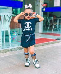 Vestido Camisão Preto Chanel