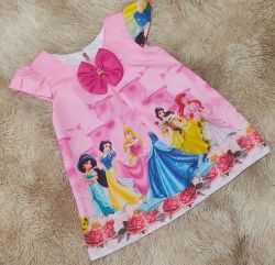 Vestido Trapézio Princesas Disney Mod.5 PrintVIII