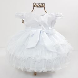 Vestido Festa Branco Mod.6 Nelu