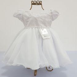 Vestido Festa Branco Mod.7 Nelu