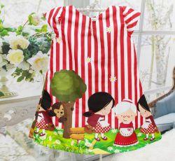Vestido Trapézio Chapeuzinho Vermelho Mod.4 PrintIX