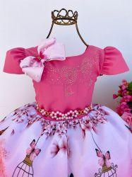 Vestido Festa Jardim Encantado + Laço Mod.2 Puzzle