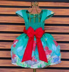 Vestido Pequena Sereia Ariel Mod.3 PrintVIII