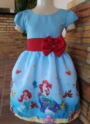 Vestido Pequena Sereia Ariel Mod.8 PrintVIII