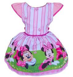 Vestido Minnie Rosa Mod.1 PrintVIII