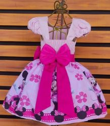 Vestido Minnie Rosa Mod.2 PrintVIII
