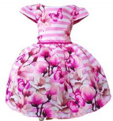 Vestido Floral Rosa Mod.13 PrintVIII