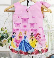 Vestido Trapézio Princesas Disney Mod.8 PrintIX