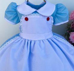 Vestido Festa Alice no País das Maravilhas Mod.2 Menina Bonita