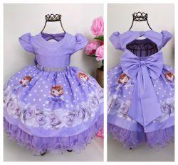 Vestido Festa Princesa Sofia Mod.4 Menina Bonita