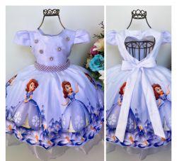 Vestido Festa Princesa Sofia Mod.6 Puzzle