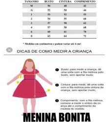 Vestido Festa Rosa Menina Bonita Mod.2